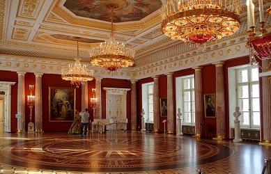 Внутренний интерьер Большого дворца в Царицыно.