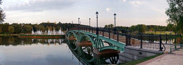 Мост через Среднецарицынский пруд.