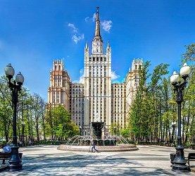 Жилой дом на Кудринской площади - одна из семи сталинских высоток в Москве.