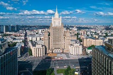 Здание Министерства иностранных дел - сталинская высотка в Москве.