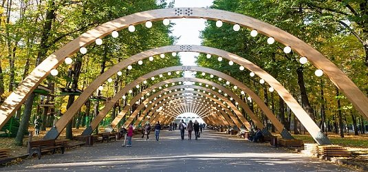 Парк Сокольники в Москве.