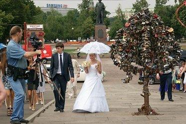 Поцелуев мост в Москве.