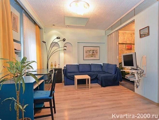 Двухкомнатная квартира на сутки у м. Смоленская