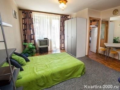 Однокомнатная квартира на сутки м. Улица 1905 года  за 3100 рублей
