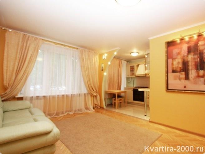 Однокомнатная квартира на сутки м. Серпуховская по цене 3300 рублей