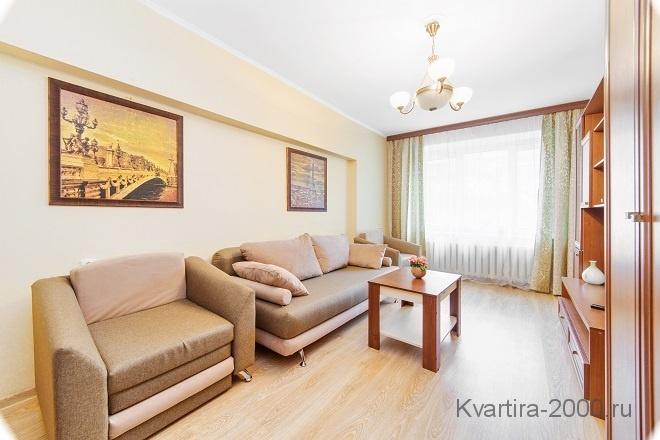 Снять на сутки двухкомнатную квартиру м. Киевская