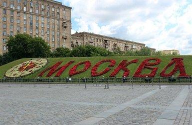 Цветочные часы в парке Победы.