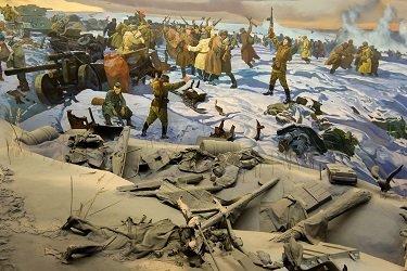 Фрагмент диарамы «Битва под Сталинградом».